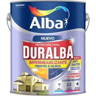 Latex frentes muros impermeabilizante duralba blanco ALBA