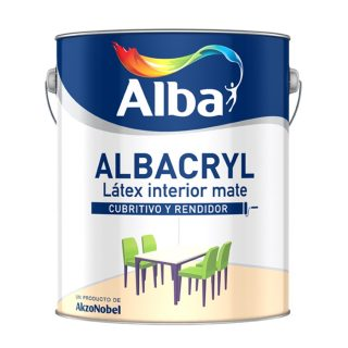 Albacryl pintura latex interior blanco ALBA