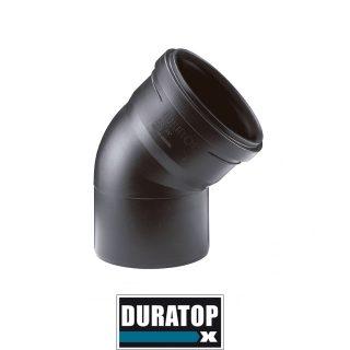 Codo a 45º m-h negro DURATOP