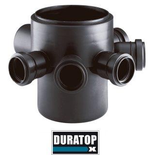 Pileta de patio c/sal.c/5 negro   63 mm DURATOP