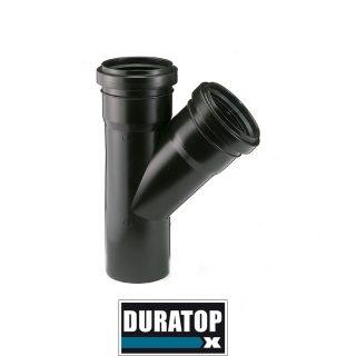 Ramal simple a 45º negro DURATOP