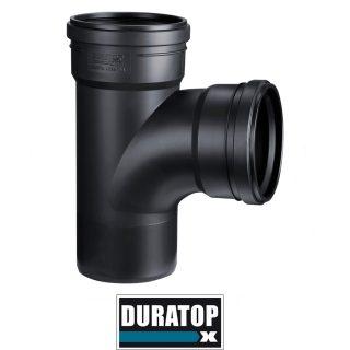 Ramal simple a 87º 30′ negro DURATOP