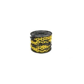 Cadena plastica x metro negra y amarilla 8 x 54 x 27 mm ce KUSHIRO
