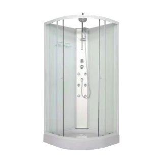 Cabina de ducha curva con hidromasajes GLOA