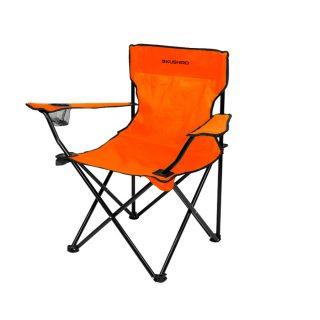 Silla camping plegable color naranja KUSHIRO