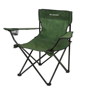 Silla camping plegable color verde KUSHIRO